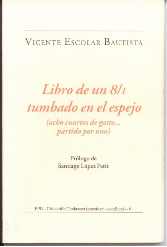 Vicente Escolar's book of poetry